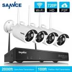 Kamerový systém SANNCE 4CH HD 720p WIFI NVR IP kamera