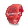 Analogové silikonové hodinky - červené