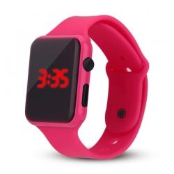 Silikonové digitální hodinky - růžová