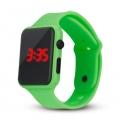Silikonové digitální hodinky - zelená