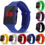 Silikonové digitální hodinky - fialová