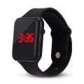 Silikonové digitální hodinky - černá