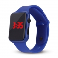Silikonové digitální hodinky - modrá
