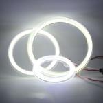 2x COB LED kroužek průměr 120 mm - Bílý