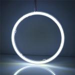 2x COB LED kroužek průměr 90 mm - Bílý