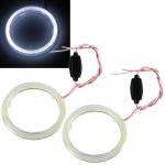 2x COB LED kroužek průměr 60 mm - Bílý