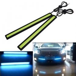 2x COB LED pásek do auta 12V 6W modrý