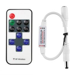 Dálkové ovládání, ovladač jednobarevných LED pásků