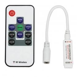 Dálkové ovládání, ovladač barevných RGB LED pásků