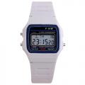 Retro digitální hodinky - bílé