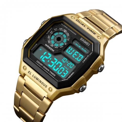 Digitální hodinky Skmei 1335 Gold 395b90df55c