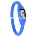 Digitální silikonové hodinky - modrá