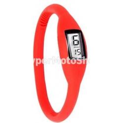 Digitální silikonové hodinky - červená