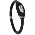 Digitální silikonové hodinky - černá