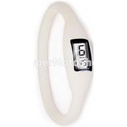 Digitální silikonové hodinky - bílá