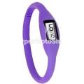 Digitální silikonové hodinky - fialová