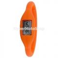 Digitální silikonové hodinky - oranžová