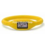 Digitální silikonové hodinky - žlutá