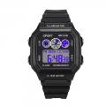 Pánské digitální hodinky s modrým podsvícením