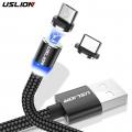 Magnetický datový a nabíjecí micro USB kabel s LED