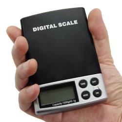 Kapesní digitální váha, přesnost 0,1g do 1000g