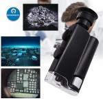 Kapesní mikroskop s UV LED zoom 240X
