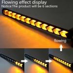 2X Denní svícení LED DRL s funkcí blinkru postupné spouštění 18cm