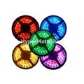 Vodotěsný RGB LED pásek, 5m, 300 LED, tříbarevný, SMD3528