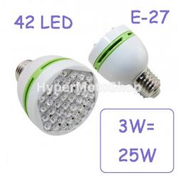 Úsporná žárovka - 42 LED diod, E27