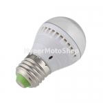Úsporná LED žárovka E27, 7x LED SMD 5050 teplá bílá