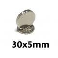 Neodymový magnet 30 x 5 mm
