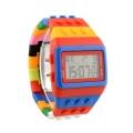 Modní LED digitální hodinky Lego