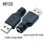 USB na napájecí DC konektor