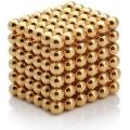 NeoCube magnetické kuličky 5mm 216 kusů zlaté