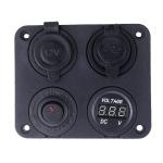 Vypínač, voltmetr, 2x USB, CL zásuvka do panelu
