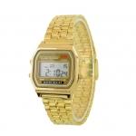 Pánské retro digitální hodinky - zlaté