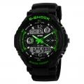 Pánské sportovní hodinky - SKMEI S-shock Green