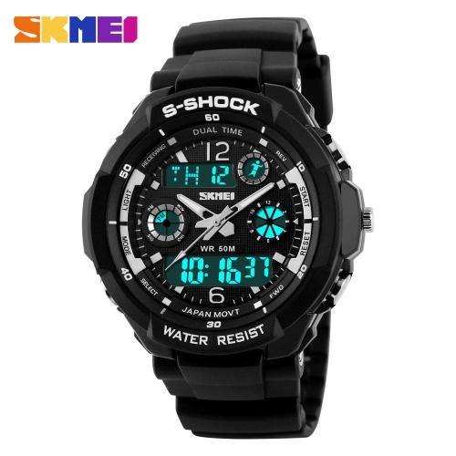 Pánské sportovní hodinky - SKMEI S-shock silver bd6d2dc721