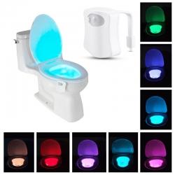 Pohybem aktivované LED osvětlení na WC záchod