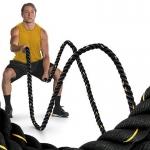 Posilovací lano na cvičení 15 m x 3,8 cm, 13,5 kg