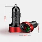 USB autonabíječka s rychlonabíjením Qualcomm a voltmetr