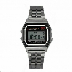 Retro digitálky, legendární digitální hodinky šedé