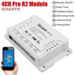 Dálkově ovládaný čtyřkanálový WiFi modul Sonoff 4CH PRO R2