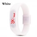 Digitální hodinky na běhání - bílá