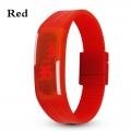 Digitální hodinky na běhání - červené