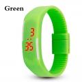 Digitální hodinky na běhání - zelené