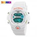 Sportovní digitální hodinky - SKMEI bílé