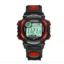 Digitální sportovní hodinky Synoke, dětské, červené