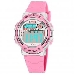 Dámské digitální hodinky Synoke - růžové