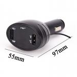 Teploměr Voltmetr a USB nabíječka do Auta 3v1